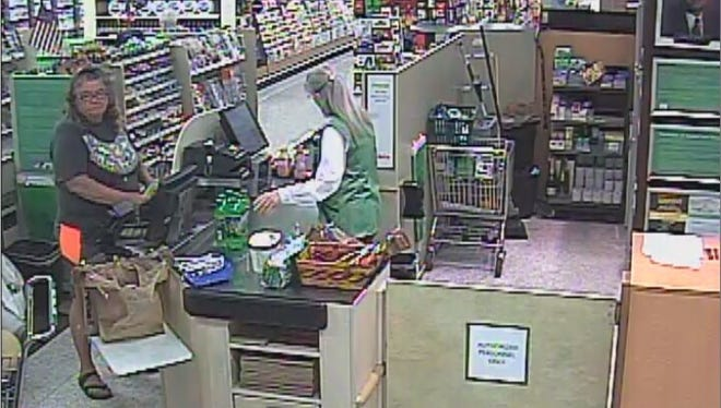 Photo of suspect in the disappearance of a woman's wallet at a Cape Coal Public recently.