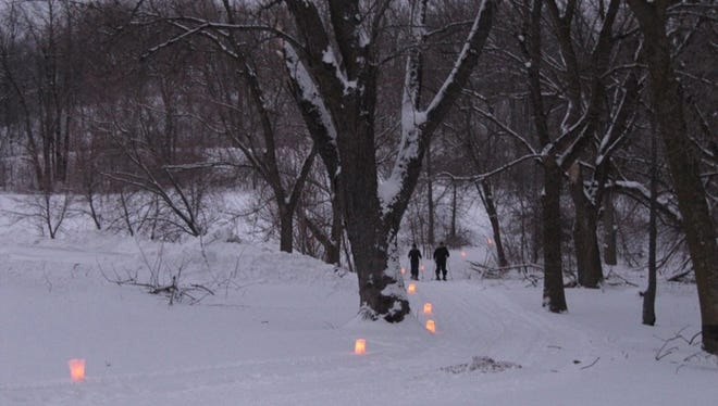 More than 30 DNR properties will hold candlelight events this winter. This image is from a candlelight ski last year at the Pike Lake Unit of the Kettle Morain State Forest.