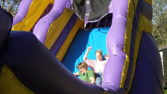 We rented a giant inflatable water slide for our wedding