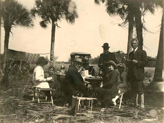 Camping with the Fords and John Burroughs, circa 1912.