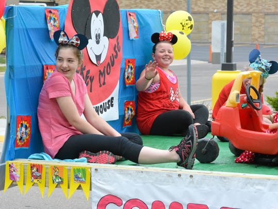 Oconto Daycare decorated their float with a Mickey