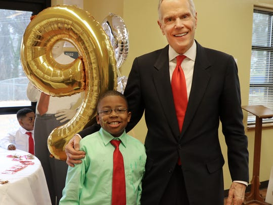 """Attorney George Sink, Sr. celebrates an """"all 9s"""" birthday for Landen Shell, 4."""