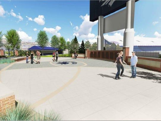 A conceptual design shows the Donald L. Jensen Plaza