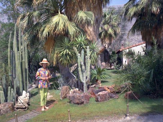 Patricia Moorten at Moorten Botanical Garden c. 1970.