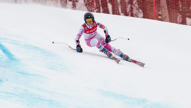 AJ Hurt won the women's Alpine combined race at the U.S. championships.