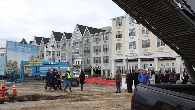 Members of Kushner Companies and local officials break ground for the latest phase of Pier Village on the oceanfront in Long Branch.  Long Branch, NJWednesday, January 24, 2018@dhoodhood