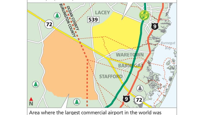 A proposed 'jetport' for the Pine Barrens.