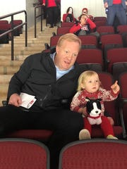 In this 2017 photo, Jim and cherished daughter Ellie Johannson enjoy time together at a hockey game.