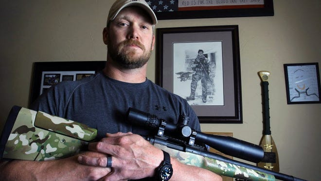 The real Chris Kyle at home in Texas.