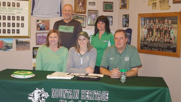 Mountain Heritage senior Alex Boone has signed to play