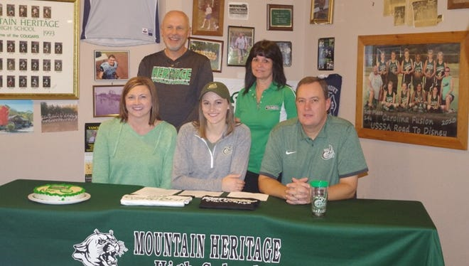 Mountain Heritage senior Alex Boone has signed to play college volleyball for Charlotte.