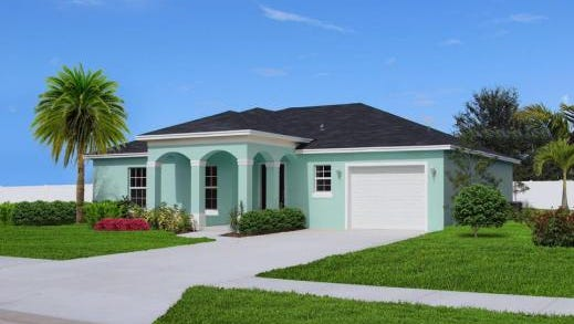 The model home is located at Sandy Oaks Development, 14775 SW Cherokee Drive, Indiantown.