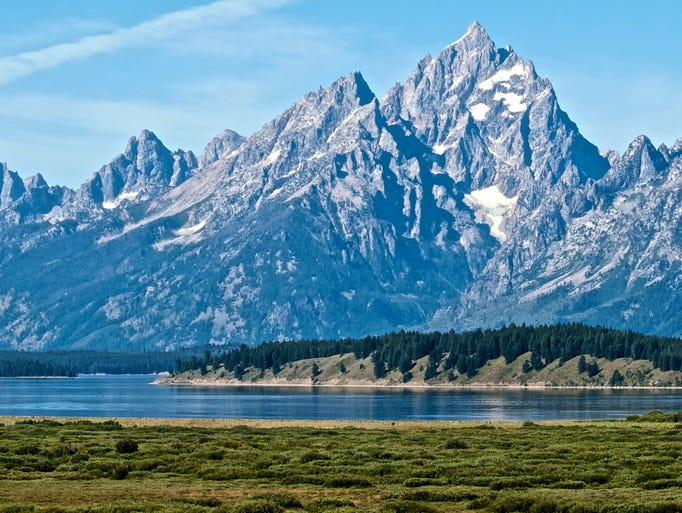 A glorious day in Grand Teton National Park, Wyoming,