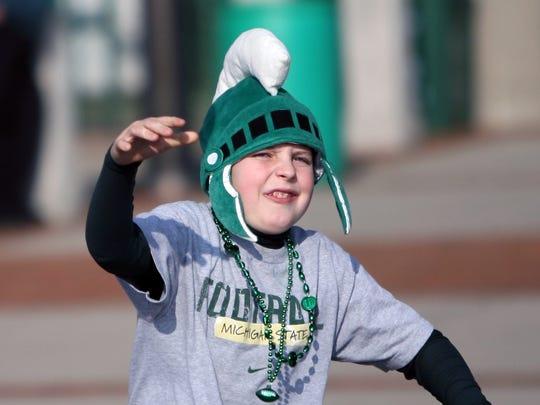 A young MSU fan in 2009.