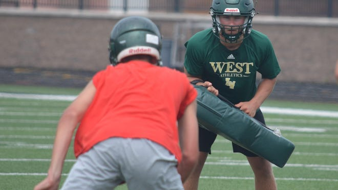 The Zeeland West football team opened practice on Monday at Zeeland Stadium.