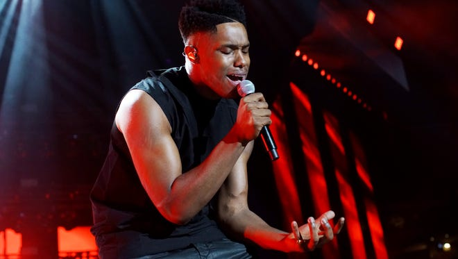 Singer Avery Wilson performs during the 2016 Essence Festival Friday in New Orleans.