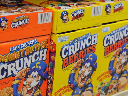 1963 – Cap'n Crunch: The captain, whose full name is Horatio Q. Crunch, and his cereal were introduced to stop the scourge of soggy cereals in children's bowls. The cereal introduced an oat and corn mixture to hopefully abate the sogginess.