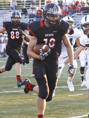 SPASH's Eli Wachowiak heads downfield during the Panthers win over Fond du Lac last Friday in Stevens Point.