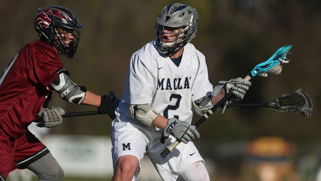 Maclay's Sam Chase tries to get past the defense of Chiles' Nic Mcwey during their game at Maclay School on Thursday, March 8, 2018.