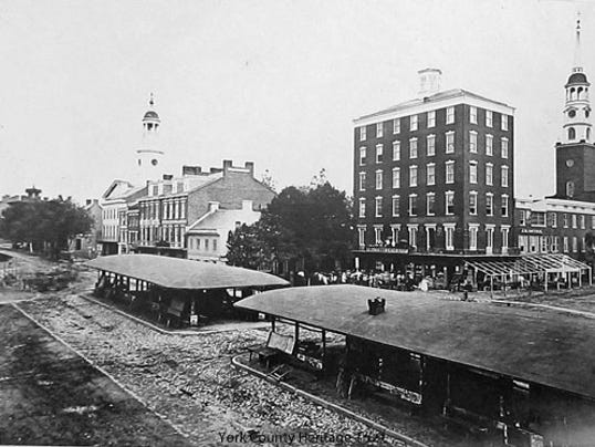 Looking toward the southeast corner of York's square