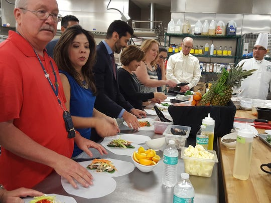 Last week, a group of about 12 employees from El Paso Electric attended a healthy cooking demonstration presented by the Culinary Arts Program at El Paso Community College.