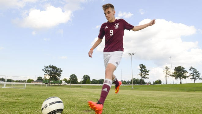 Sacred Heart's Sidney Bryant scored 17 goals this season for the Knights.