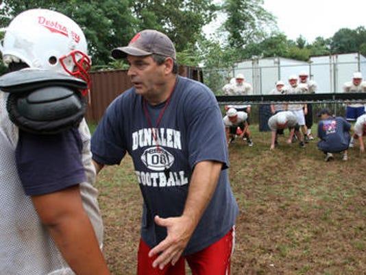 Dunellen football coach Dave DeNapoli