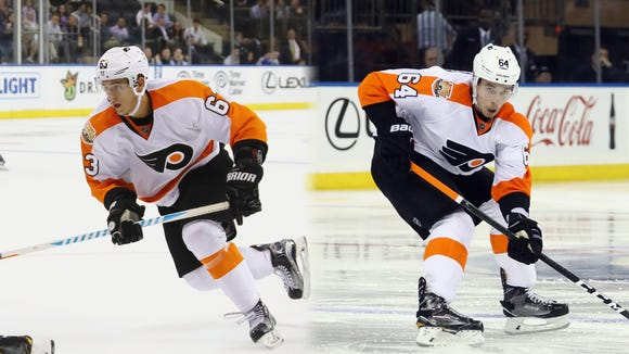 Travis Konecny, left, and Ivan Provorov, right both made the Flyers' final roster.