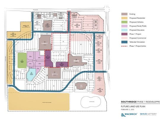 Macerich undertook a redevelopment plan for Southridge Mall in February 2012.
