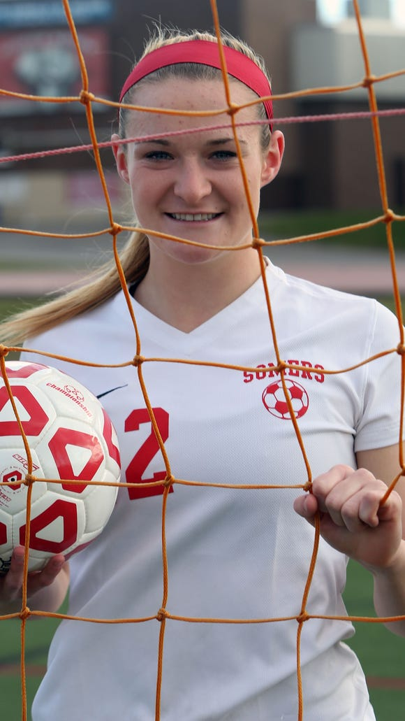 Somers' Hannon Eberts, the Westchester/Putnam Girls Soccer Player of the Year, had 35 goals and 15 assists this season for the Tuskers.