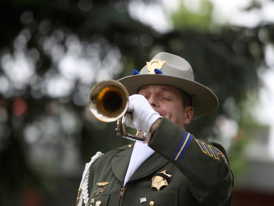 California Highway Patrol Officer Briar Segal plays