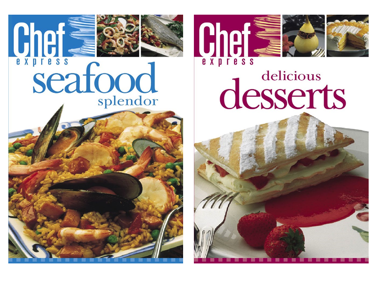 Download a new title each week filled with complete recipes to the device of your choice.