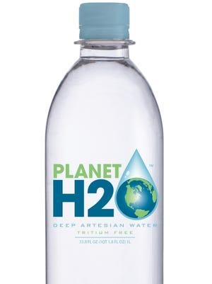 A 1-liter bottle of Planet H2O water, produced near Linden, Tenn.