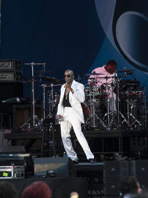 The 53rd annual Cincinnati Music Festival, presented by P&G was held Friday at Paul Brown Stadium with national acts such as Jennifer Hudson, The O'Jays and many more.  The second artist of the evening, Joe.