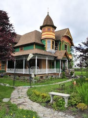 The historic Hasard House is a Queen Anne style home built in 1902 in the small town of Drain, which was originally settled in 1847. Drain is on the way to Golden and Silver Falls State Natural Area in the Coos Bay area.