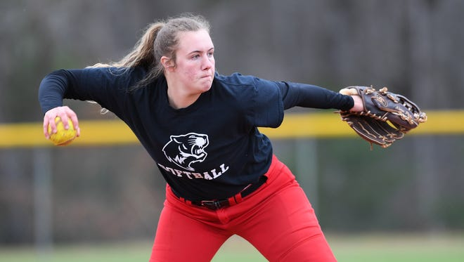 Blue Ridge senior third baseman Gabi Howard, having put surgery on each knee behind her, has been all-state each of the past two years.