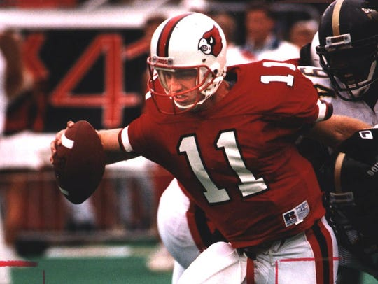 Jeff Brohm during his time at the University of Louisville.