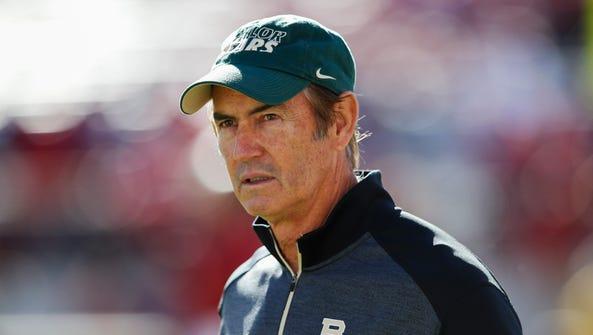 Nov 8, 2014; Norman, OK, USA; Baylor Bears head coach