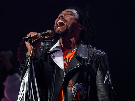 Miguel performs for his fans during his concert at Old National Centre Tuesday, August 28, 2018.