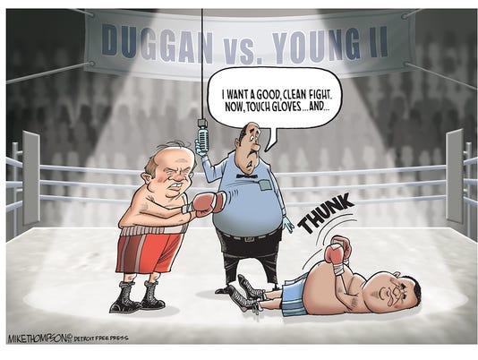 Duggan KOs Young II
