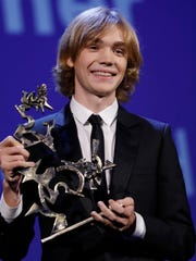 "Charlie Plummer holds the Marcello Mastroianni Prize for best emerging actor for his role in ""Lean On Pete"" at the 74th Venice Film Festival last September. Plummer, who comes from a theatrical family, grew up in Cold Spring and is now starring as John Paul Getty III in Ridley Scott's kidnap thriller ""All the Money in the World."""