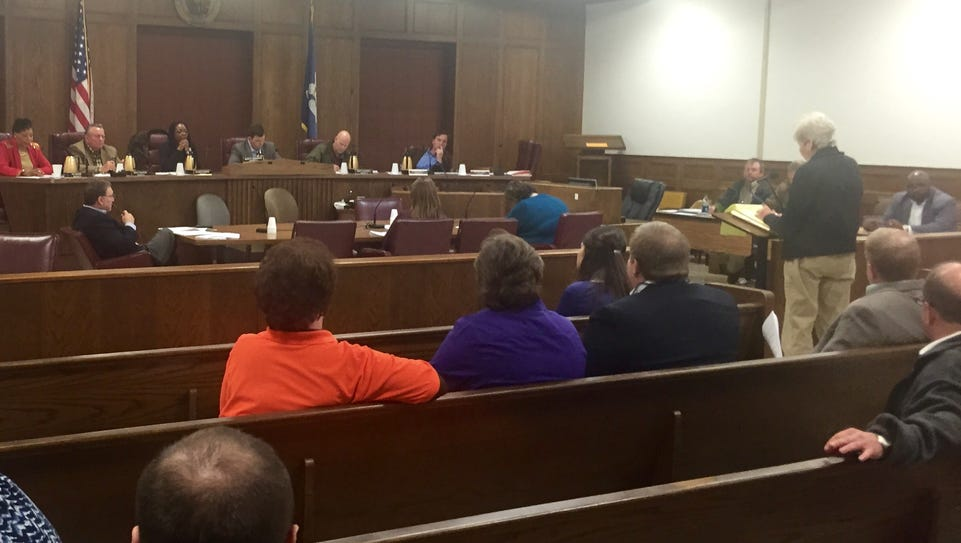 The Ouachita Parish Police Jury hears from a resident