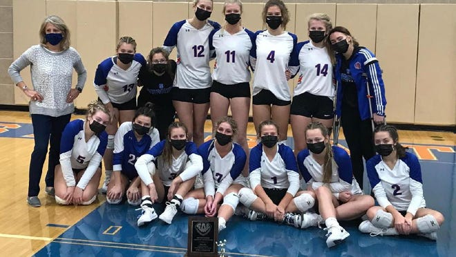 The Saugatuck volleyball team won the SAC Lakeshore Division title for the third year in a row on Tuesday.