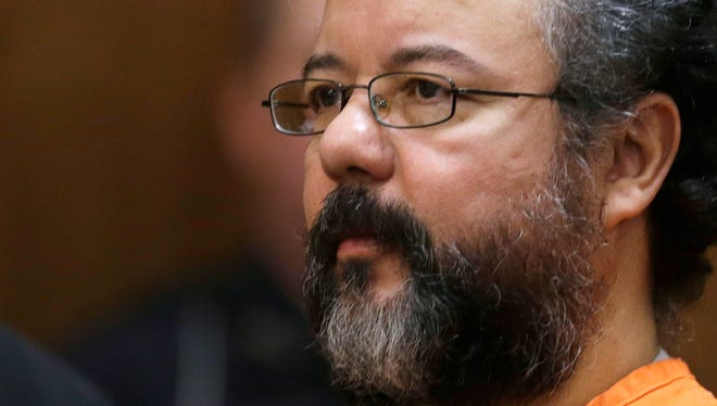 This Aug. 1 file photo shows Ariel Castro in the courtroom during the sentencing phase in Cleveland.