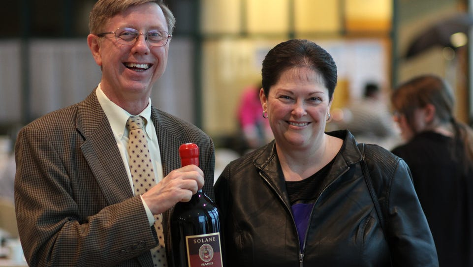 Rick, left, and Joni Parks display their Cork Pull