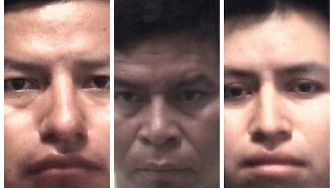 From left, Tomas Yoc Cinto, Jose Mendez and Joel Yoc Cinto.
