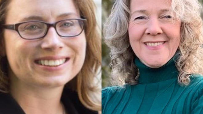 Rep. Christine Barber (left) and Anna Callahan (right).