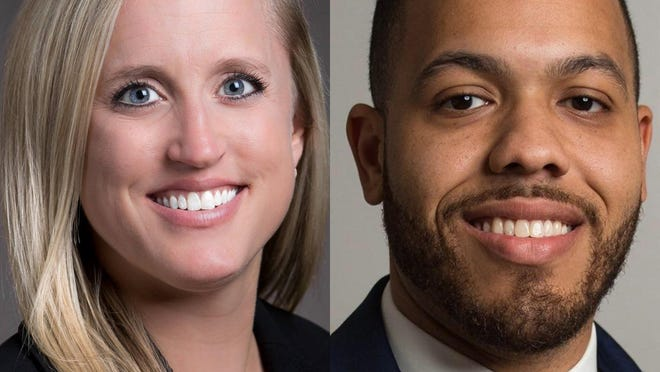 District Attorney Natalie Paine, left, faces challenger Jared Williams in the Nov. 3 election.