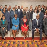 An Invest Atlanta photo shows the Atlanta delegation that traveled to Brazil in April