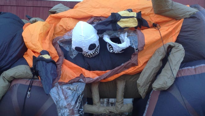 One of the Halloween decorations destroyed at Kimberly Vazquez' home in Perth Amboy.